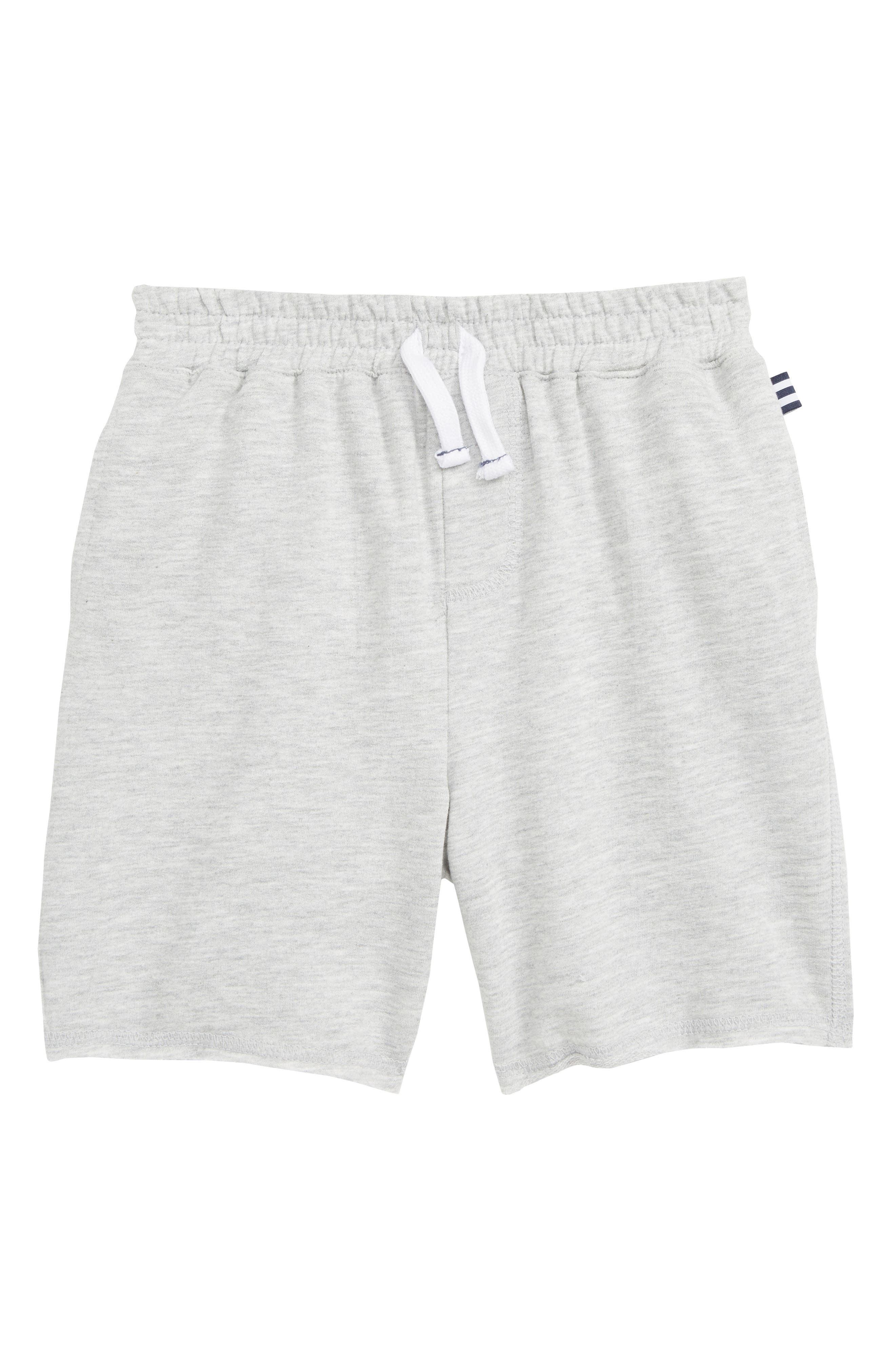 Stripe French Terry Shorts, Main, color, LIGHT GREY HEATHER