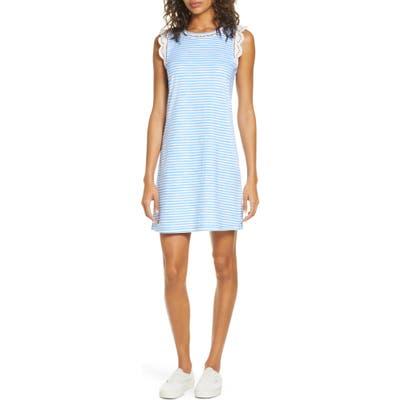 Lilly Pulitzer Agee Sleeveless Stripe Shift Dress, Blue