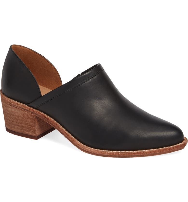 MADEWELL The Brady Block Heel Bootie, Main, color, TRUE BLACK LEATHER