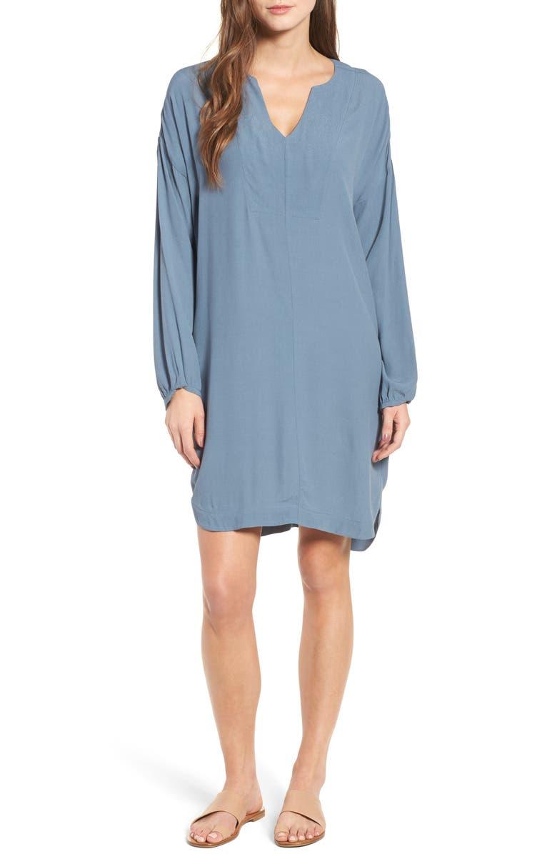 MADEWELL Du Jour Tunic Dress, Main, color, 400