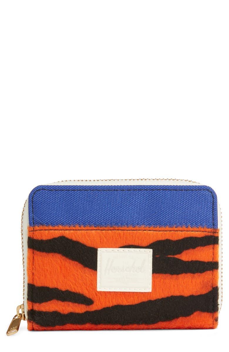 HERSCHEL SUPPLY CO. Tyler Zip Wallet, Main, color, TIGER/ ROYAL BLUE