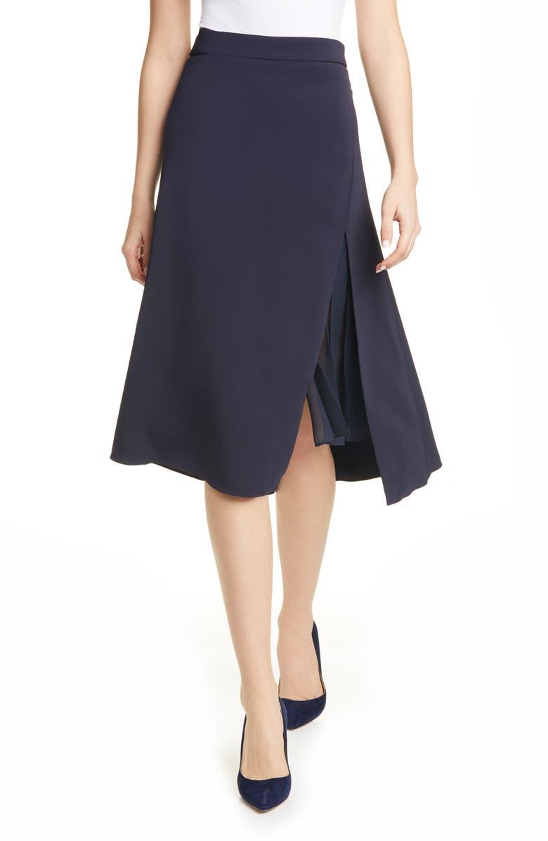 CUSHNIE Slit Hem High Waist Skirt, Main, color, 400