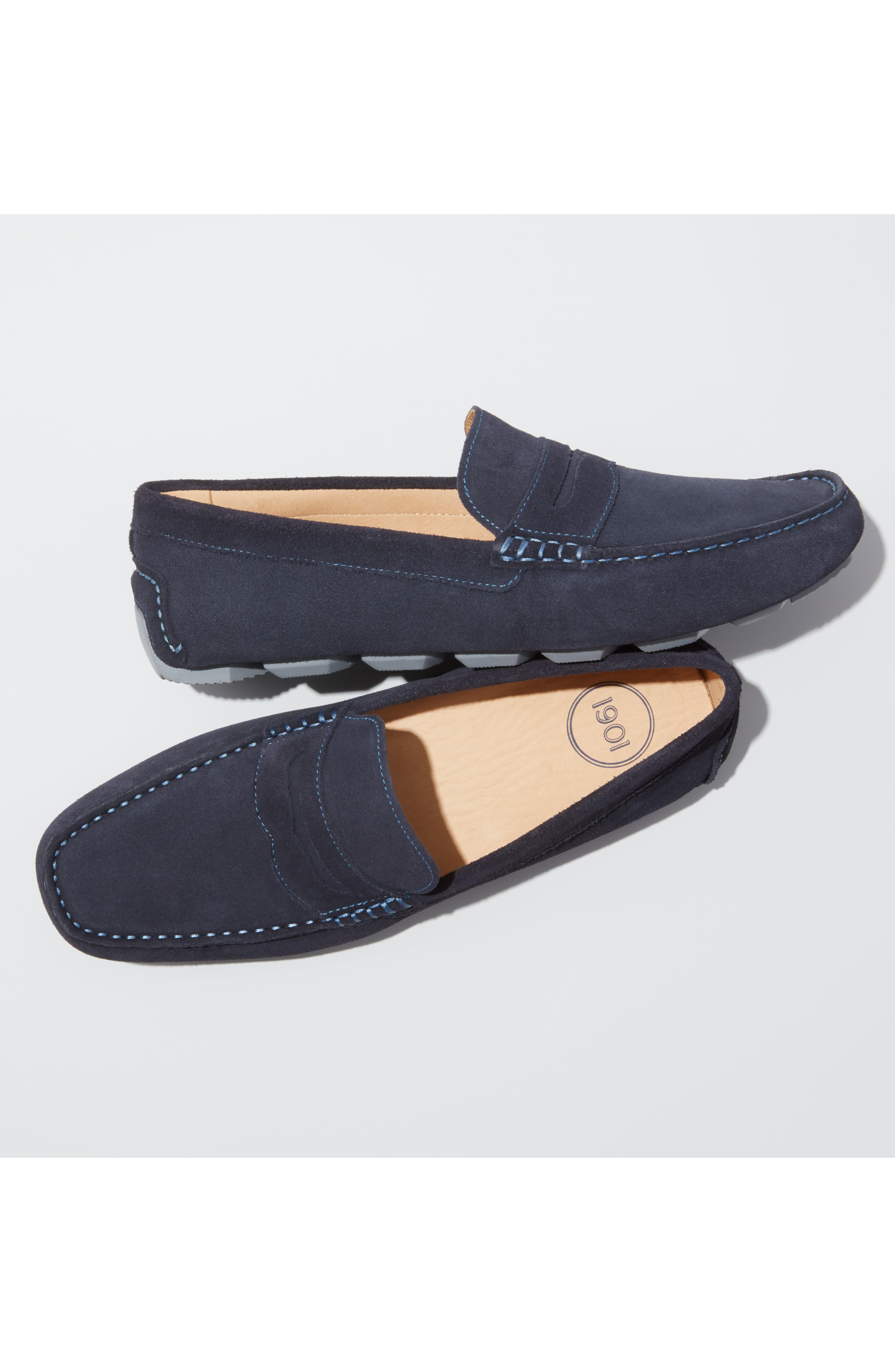 ,                             Bermuda Penny Loafer,                             Alternate thumbnail 9, color,                             BROWN SUEDE