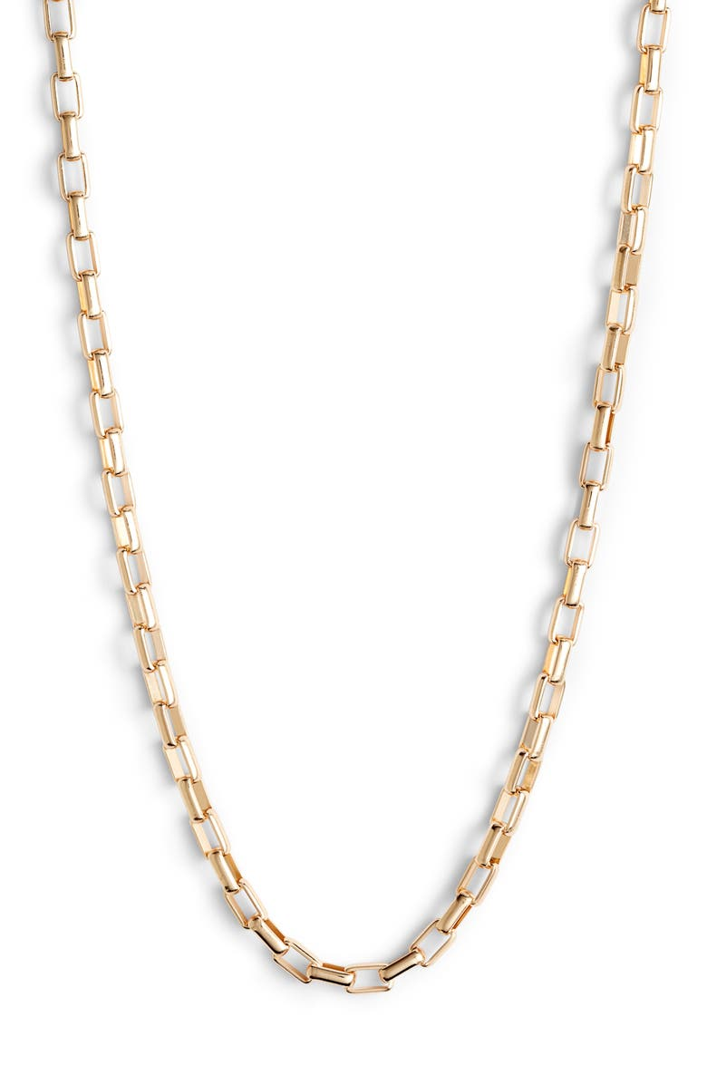 HALOGEN<SUP>®</SUP> Box Chain Collar Necklace, Main, color, GOLD