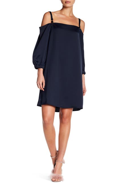 Image of Sugarlips Renata Cold Shoulder Shift Dress