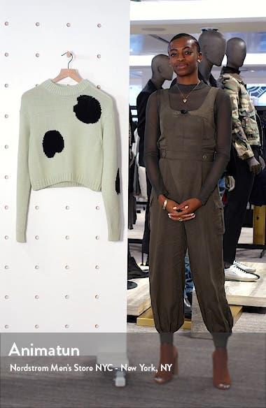 Polka Dot Intarsia Merino Wool Blend Sweater, sales video thumbnail