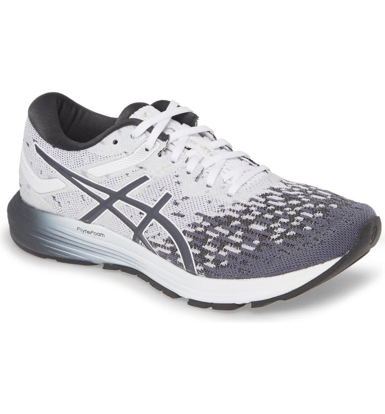 ASICS<SUP>®</SUP> DynaFlyte 4 Running Shoe, Main, color, WHITE/ GRAPHITE GREY