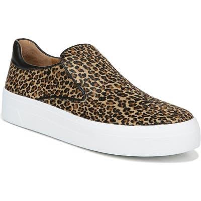 Via Spiga Velina Slip-On Genuine Calf Hair Platform Sneaker, Brown
