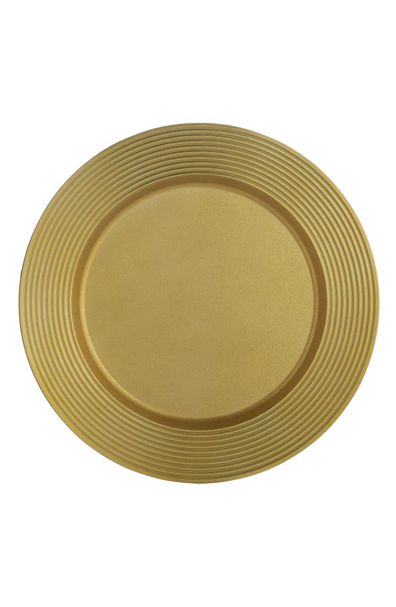 MICHAEL ARAM Wheat Charger Plate, Main, color, GOLD