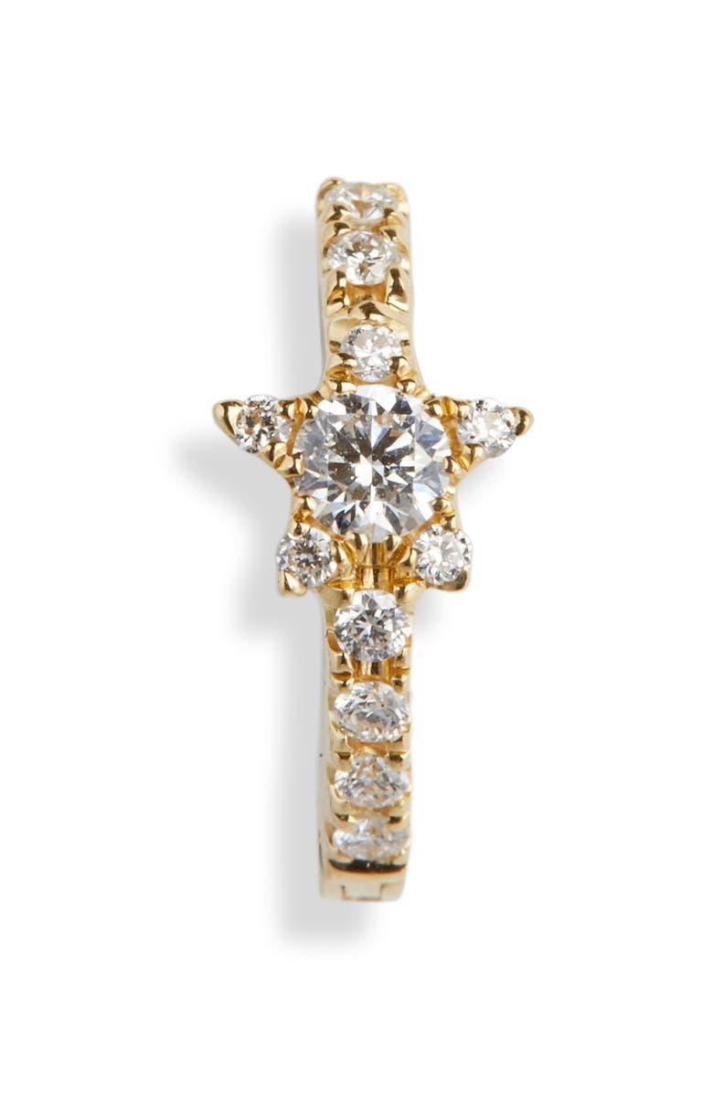 8mm Diamond Star Eternity Hoop Earring by Maria Tash