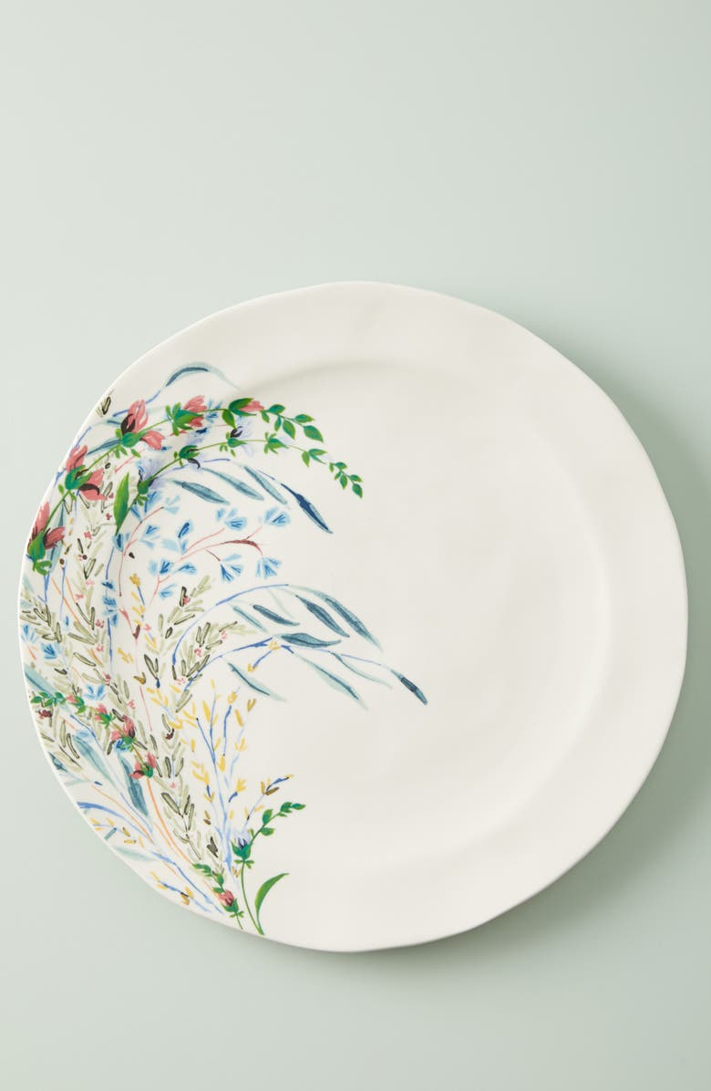 ANTHROPOLOGIE HOME Seasonally Good Set of 4 Dinner Plates, Main, color, BLUE COMBO