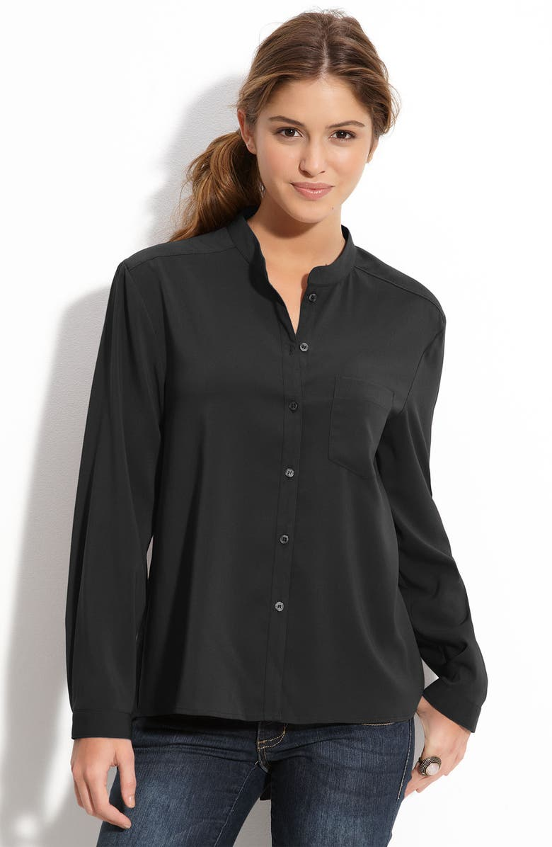 FRENCHI <sup>®</sup> Drop Tail Blouse, Main, color, 001