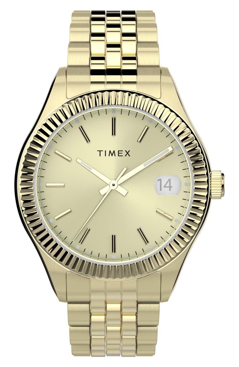 TIMEX<SUP>®</SUP> Waterbury Legacy Bracelet Watch, 34mm, Main, color, GOLD
