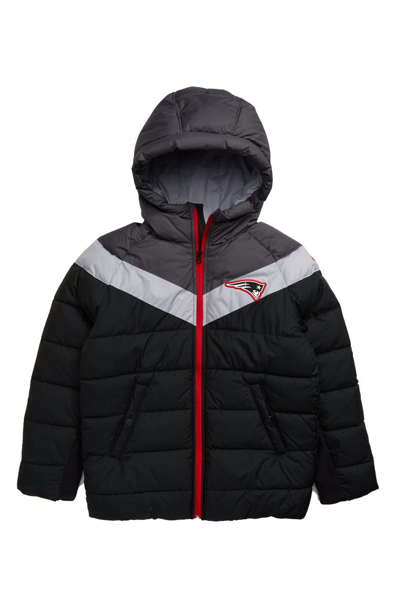best service 16d89 f2975 Nike NFL Logo New England Patriots Puffer Jacket (Big Boys ...