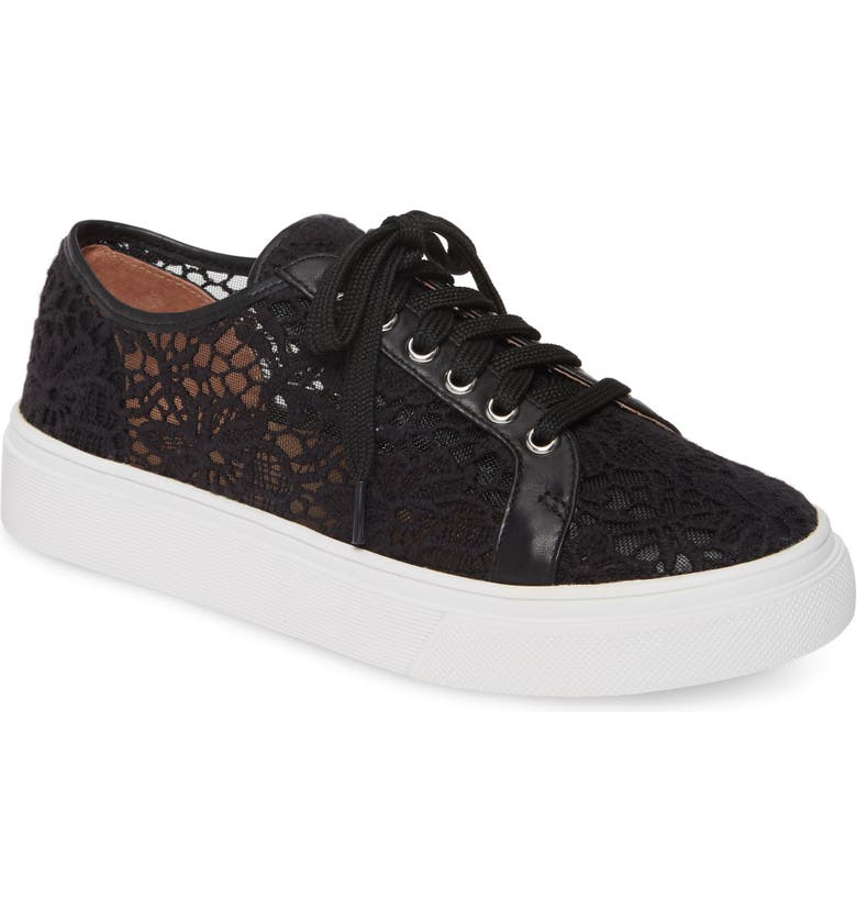 CASLON<SUP>®</SUP> Payton Lace Sneaker, Main, color, BLACK CROCHET