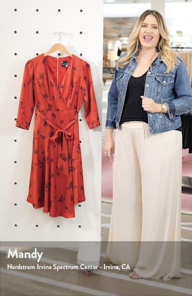 Jacquard Asymmetrical Faux Wrap Dress, sales video thumbnail