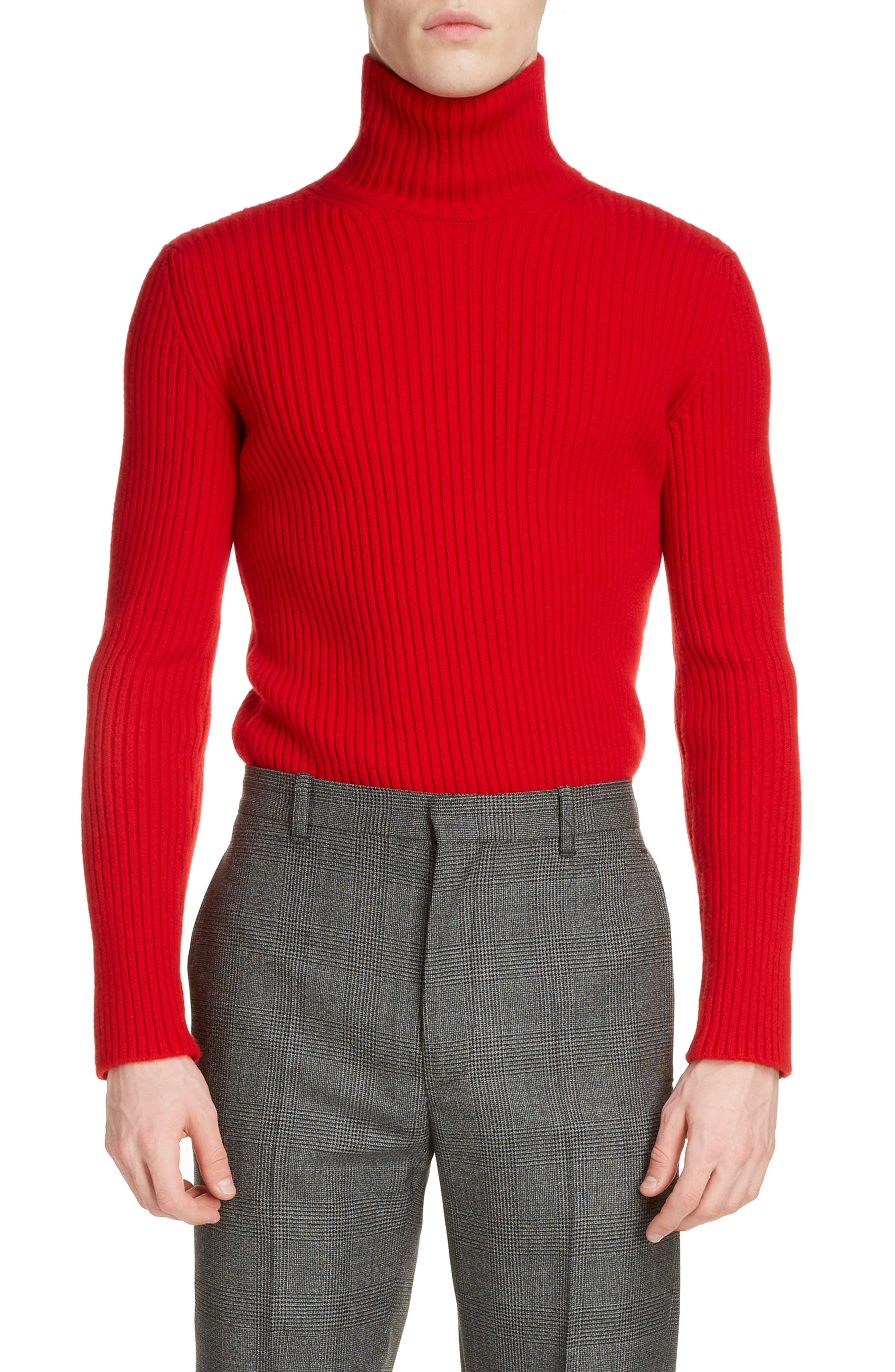 Balenciaga Tops Solid Cashmere Blend Turtleneck Sweater