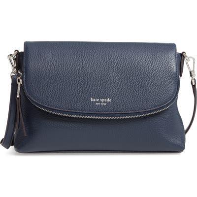 Kate Spade New York Large Polly Leather Crossbody Bag - Blue