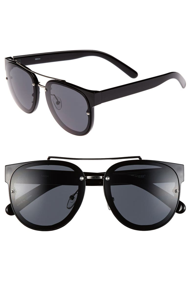 A.J. MORGAN 'So Hip' Retro Sunglasses, Main, color, 002