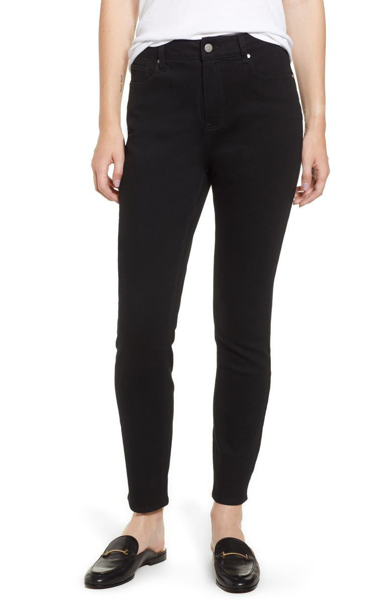 TINSEL High Waist Ankle Jeggings, Main, color, BLACK RINSE