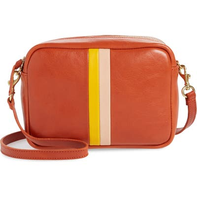 Clare V. Midi Leather Crossbody Bag - Red