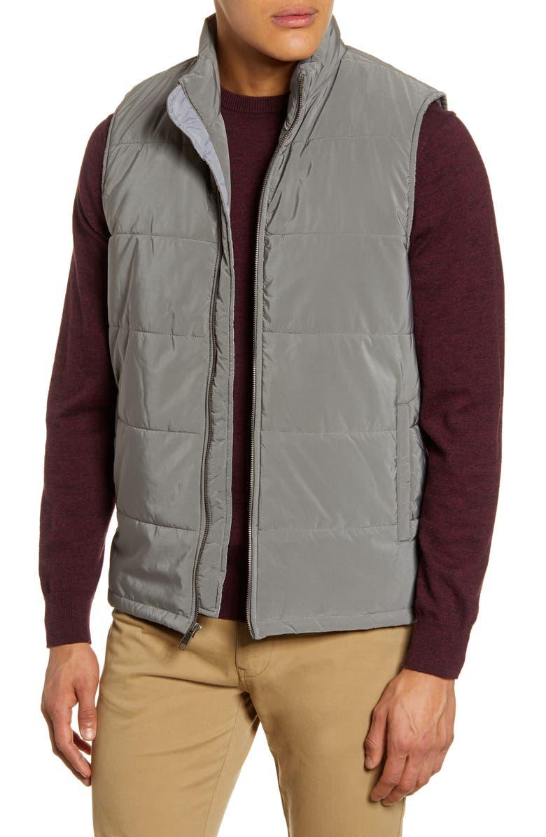 NORDSTROM MEN'S SHOP Updated Quilted Vest, Main, color, 021