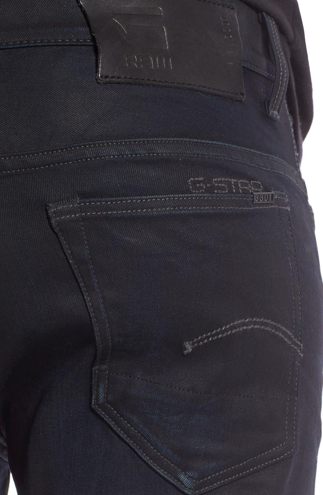 ,                             '3301 Slander' Slim Fit Jeans,                             Alternate thumbnail 4, color,                             404