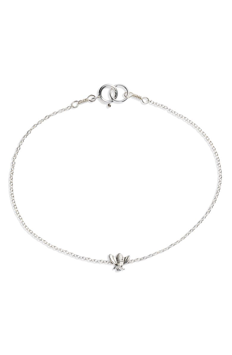 SET & STONES Beatriz Bee Bracelet, Main, color, SILVER