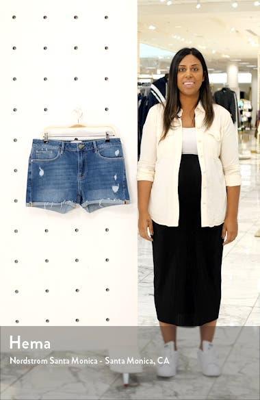 Le Grand Garcon High Waist Cuff Denim Shorts, sales video thumbnail
