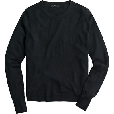J.crew Margot Crewneck Re-Imagined Wool Sweater, Black