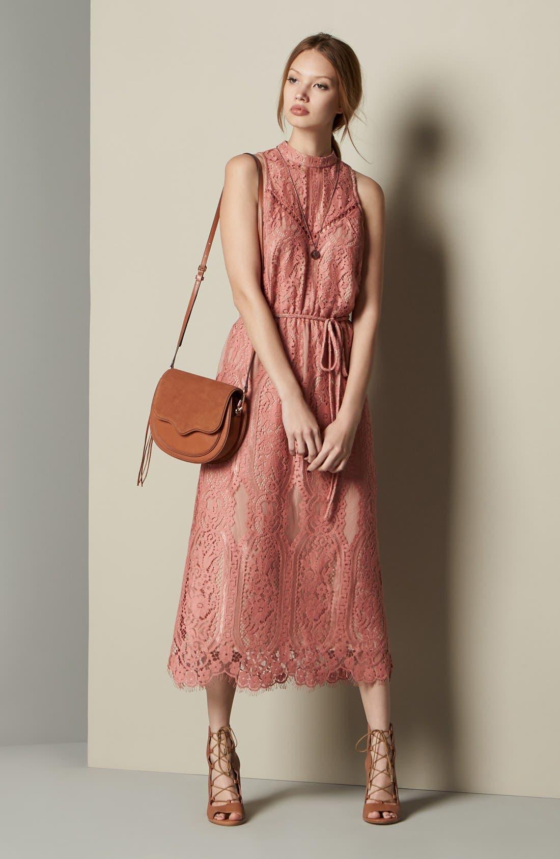 ,                             'Portrait' Lace Midi Dress,                             Alternate thumbnail 12, color,                             840