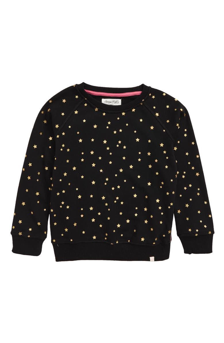 SOVEREIGN CODE Perla Sweatshirt, Main, color, GOLD STARS/ BLACK
