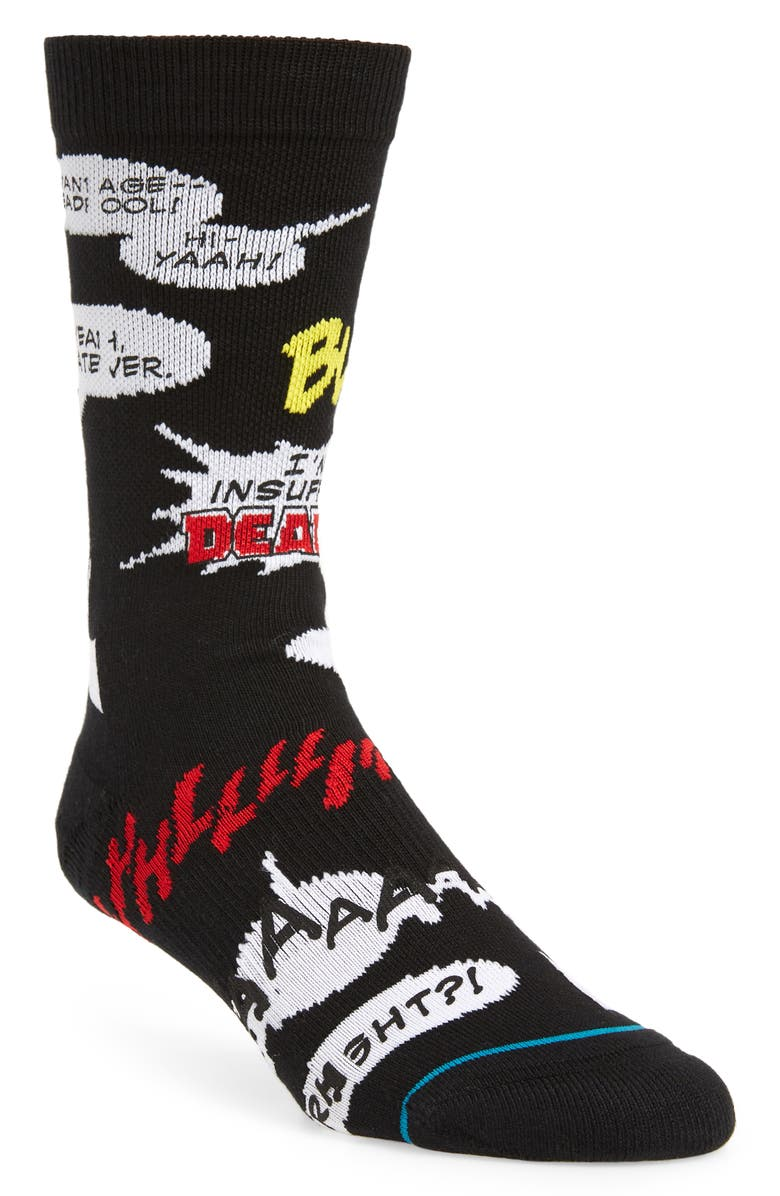 STANCE Blam Socks, Main, color, BLACK
