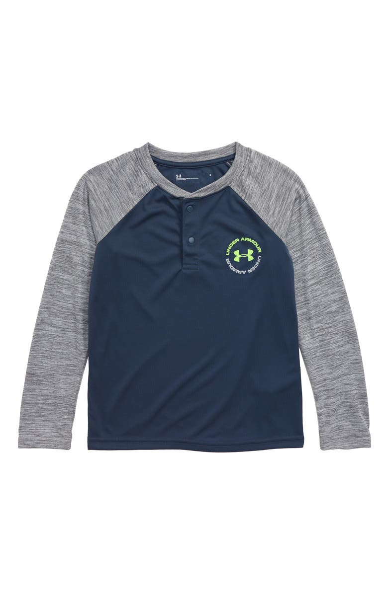 UNDER ARMOUR Twist Henley Shirt, Main, color, WIRE