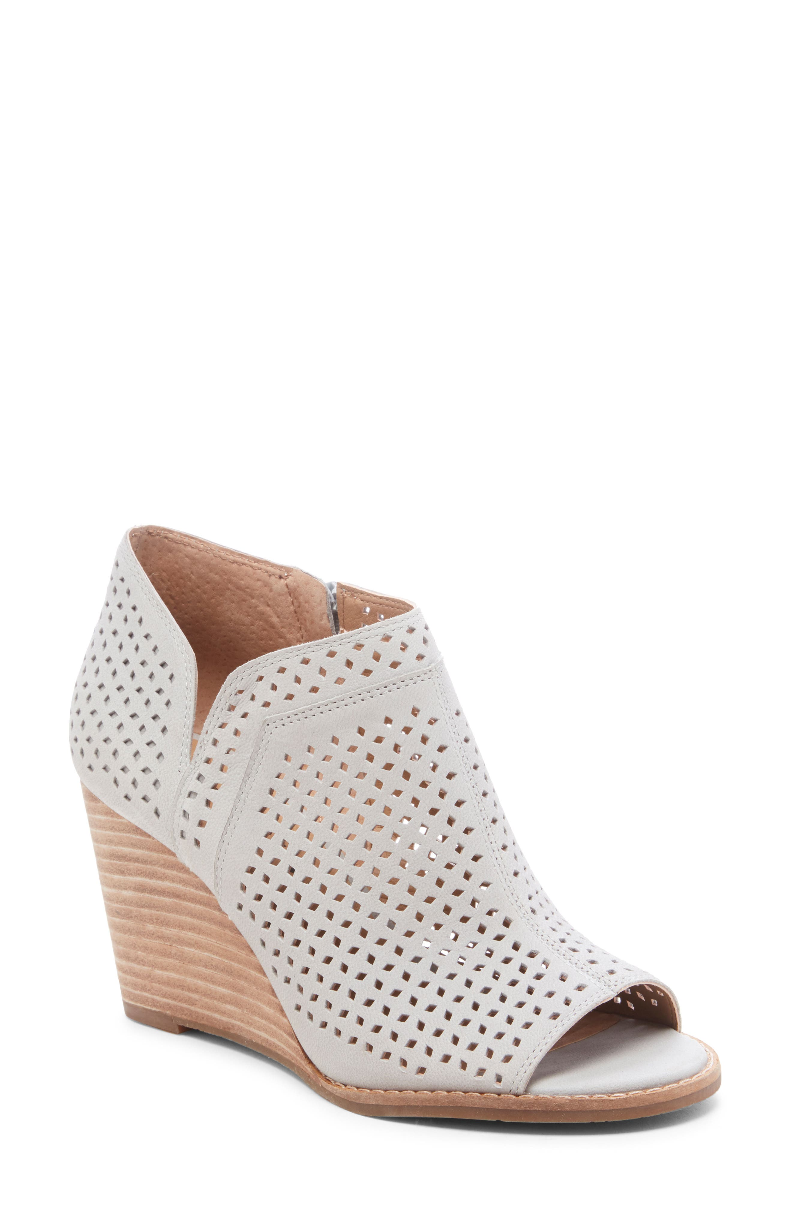 Lucky Brand Jazley Wedge Bootie- Grey