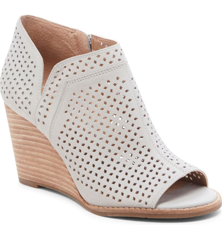 LUCKY BRAND Jazley Wedge Bootie, Main, color, CHINCHILLA LEATHER