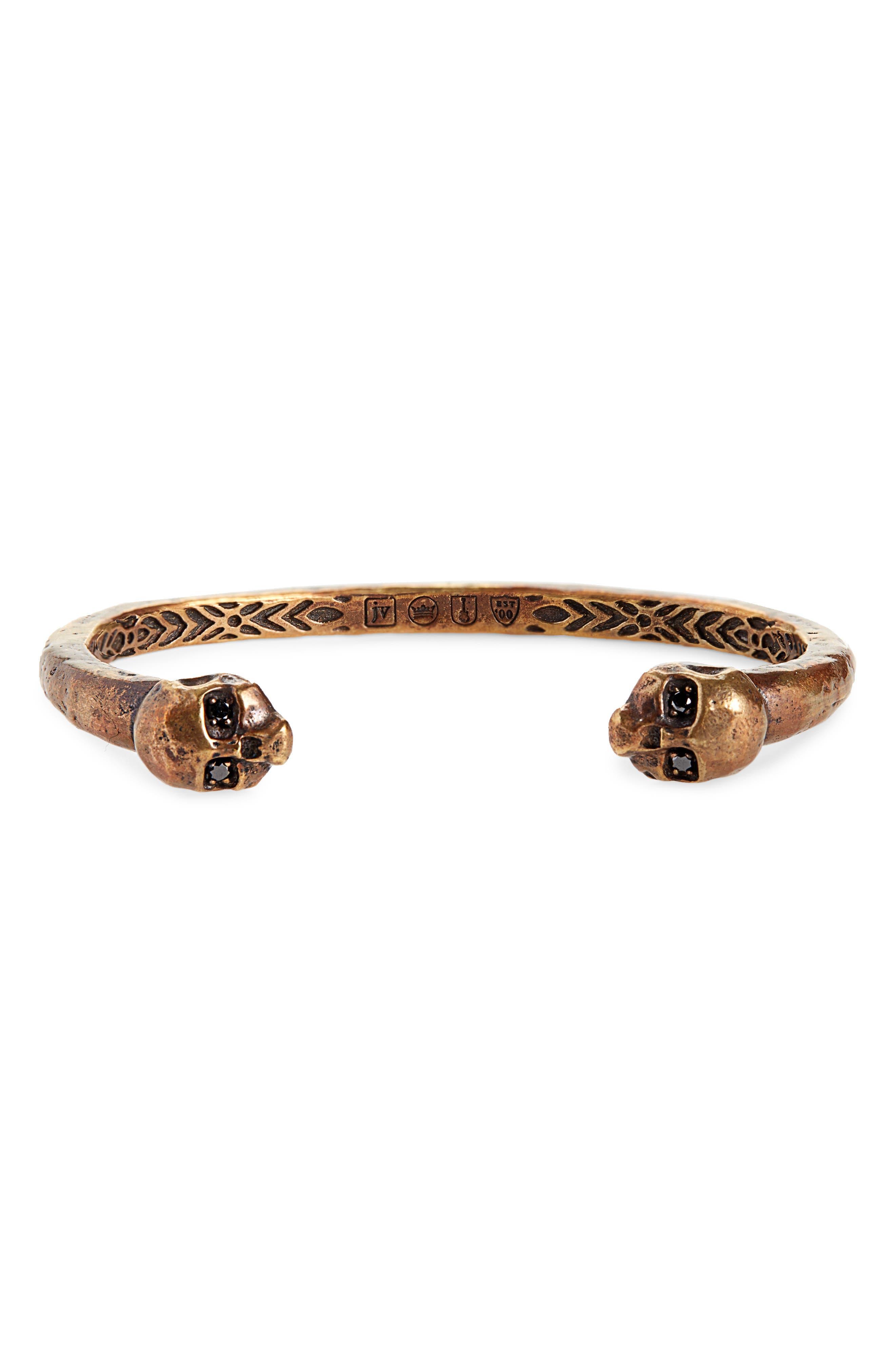 Brass Skull Cuff Bracelet