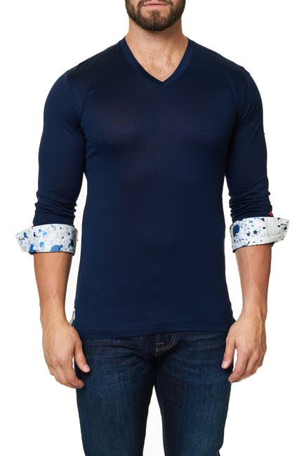 Image of Maceoo Long Sleeve V-Neck