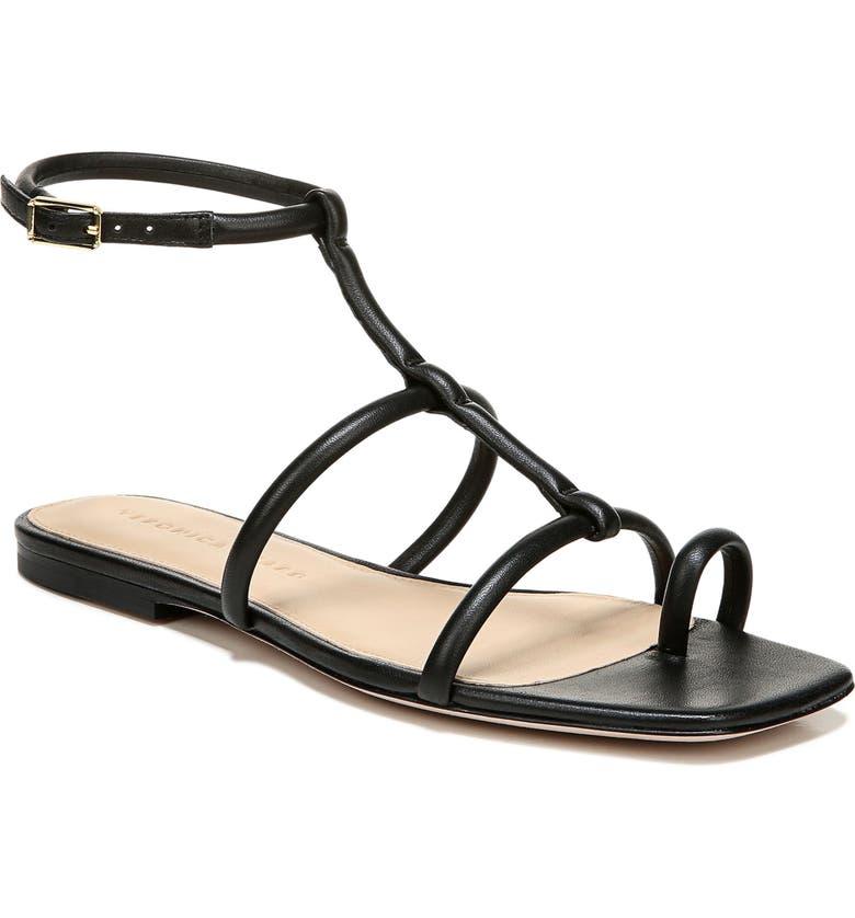 VERONICA BEARD Mayuri Ankle Strap Sandal, Main, color, BLACK
