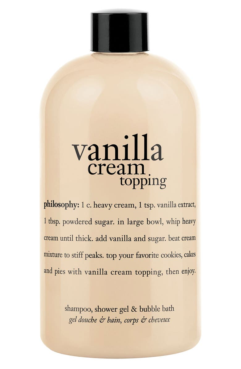 PHILOSOPHY 'whipped vanilla topping' shampoo, shower gel & bubble bath, Main, color, 000