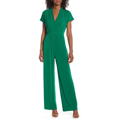 Vince Camuto Cinched Waist Jumpsuit, Green
