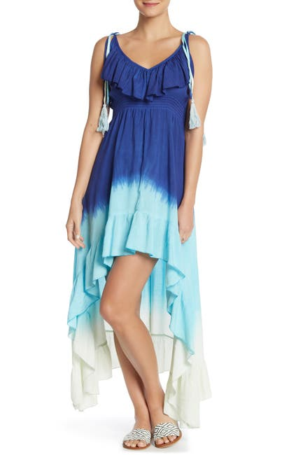 Image of BOHO ME Tie-Dye Cover-Up High/Low Dress