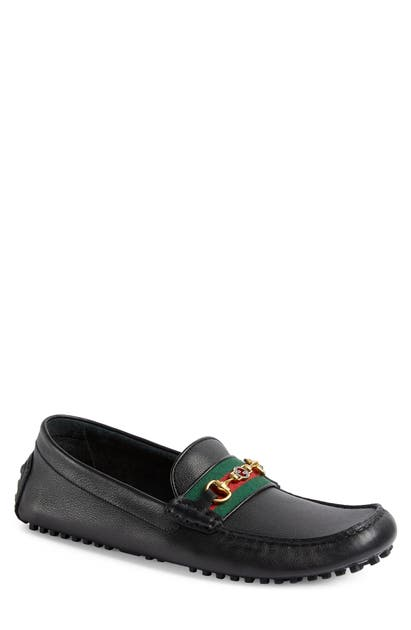 Gucci AYRTON HORSEBIT WEB DRIVING LOAFER