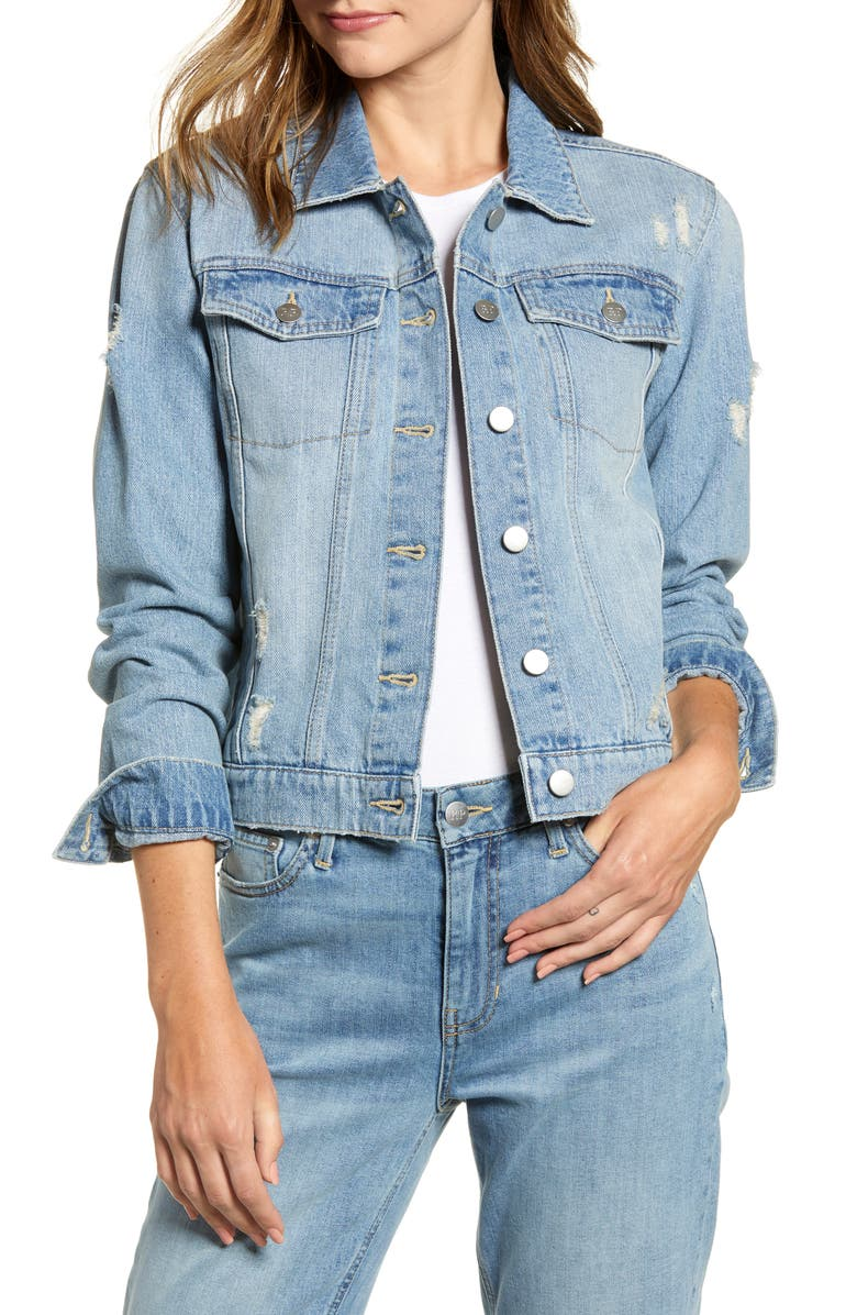 RACHEL PARCELL Denim Jacket, Main, color, 420