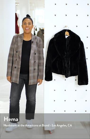 Faux Fur Crop Jacket, sales video thumbnail