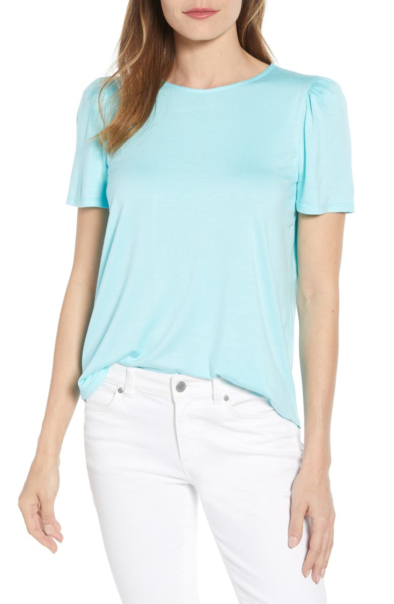 GIBSON x Living in Yellow Poppy Puff Shoulder Tee, Main, color, 360