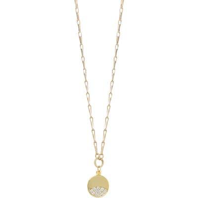 Ettika Crystal Disc Pendant Necklace