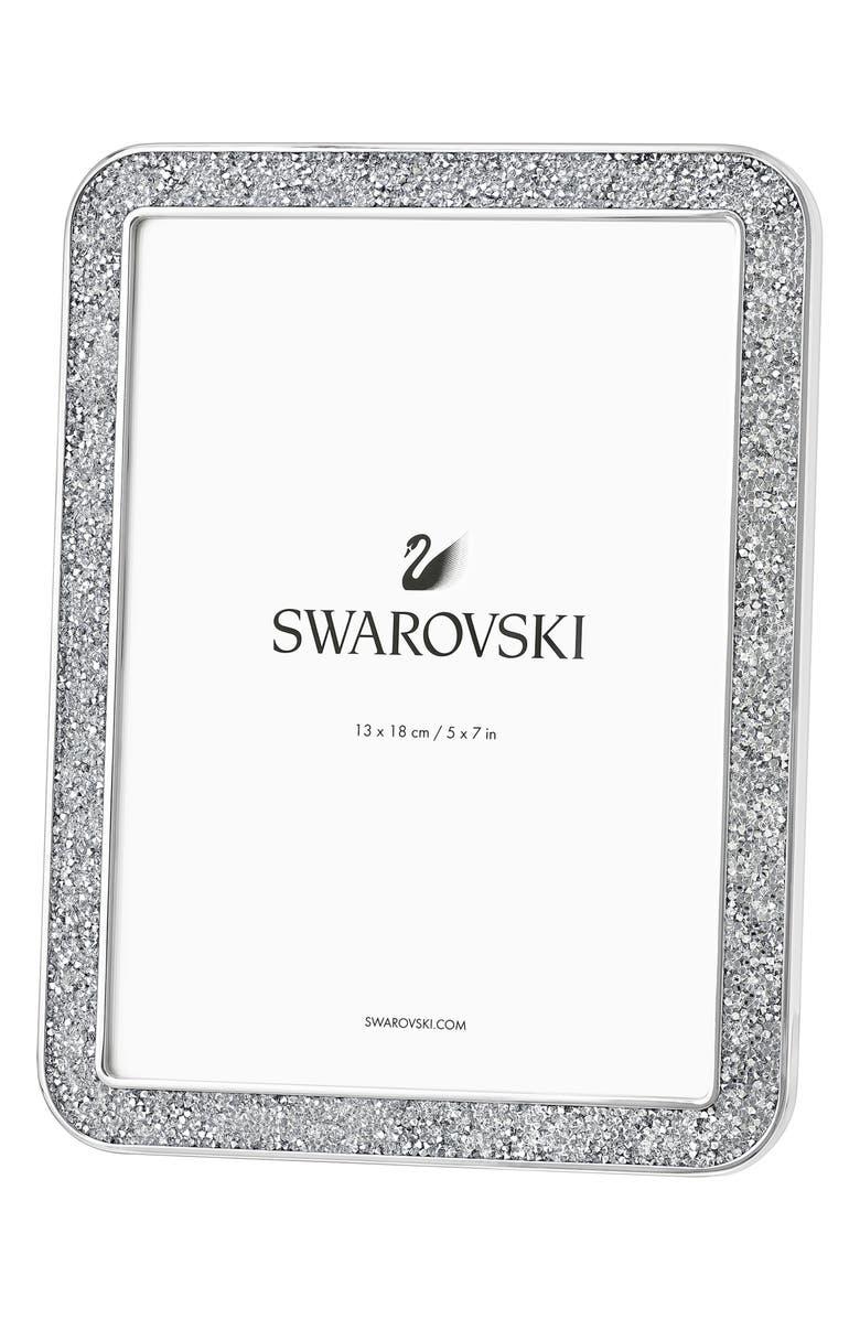SWAROVSKI Minera Crystal Picture Frame, Main, color, SILVER TONE