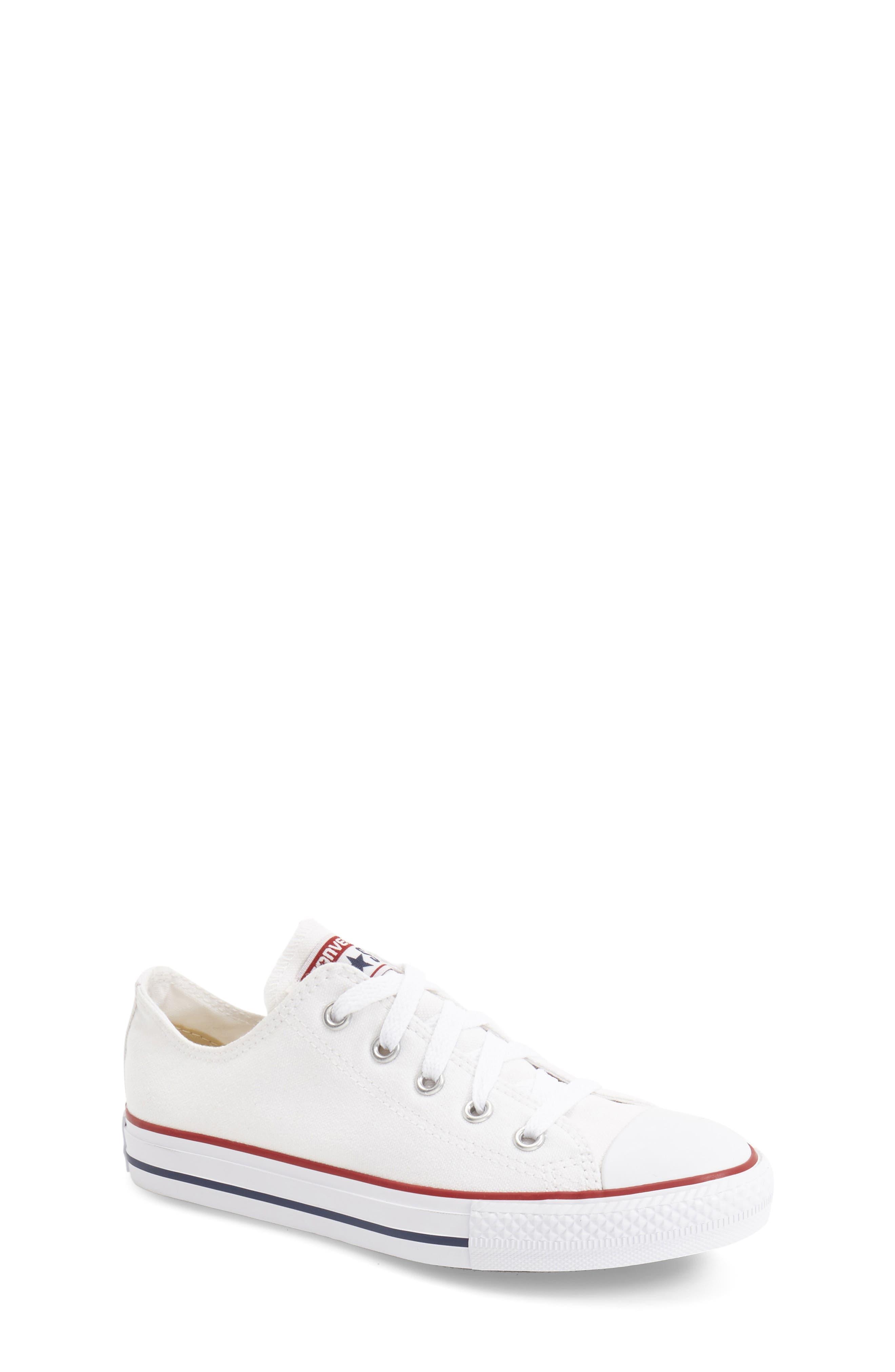 ,                             Chuck Taylor<sup>®</sup> Sneaker,                             Main thumbnail 1, color,                             WHITE