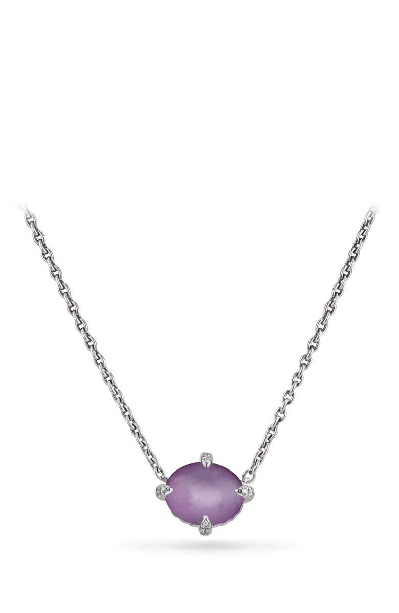 DAVID YURMAN Chatelaine<sup>®</sup> Gemstone & Diamond Necklace, Main, color, SILVER/ DIAMOND/ AMETHYST